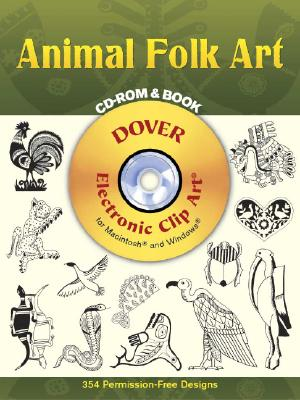 Image for Animal Folk Art CD-ROM and Book (Dover Electronic Clip Art)