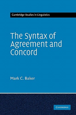 Image for Syntax Of Agreement And Concord, The