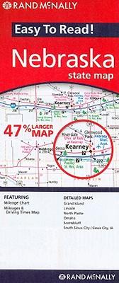 Easy To Read: Nebraska State Map (Rand McNally Easy to Read!), Rand McNally