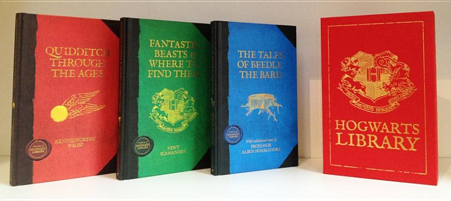 Image for THE HOGWARTS LIBRARY   The Tales of Beedle the Bard / Fantastic Beasts & Where to Find Them / Quidditch through the Ages