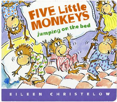 "Five Little Monkeys Jumping on the Bed Lap Board Book, ""Christelow, Eileen"""