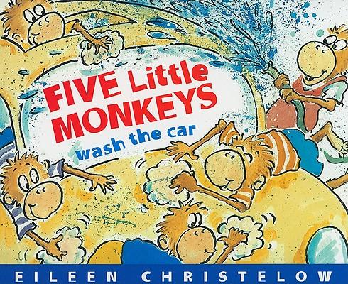 """Five Little Monkeys Wash the Car board book, """"Christelow, Eileen"""""""