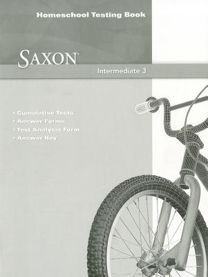 Image for Saxon Math Intermediate 3 Homeschool Testing Book