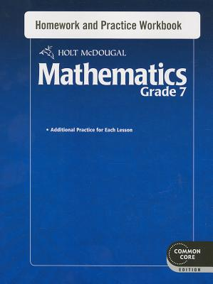 Image for Holt McDougal Mathematics: Homework and Practice Workbook Grade 7