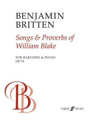 Image for Songs and Proverbs of William Blake: For Baritone and Piano (Faber Edition)
