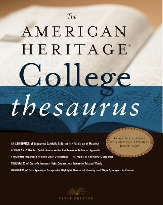 Image for The American Heritage College Thesaurus, First Edition