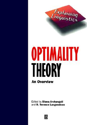 Image for Optimality Theory: An Overview