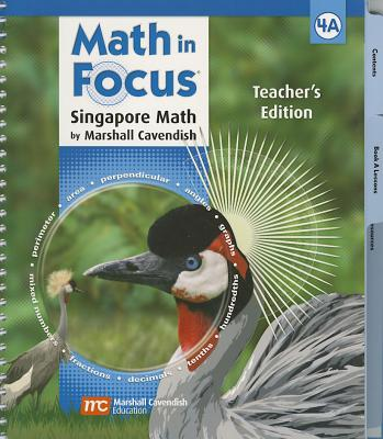 Image for Math in Focus: Singapore Math: Teacher's Edition, Book A Grade 4 2009