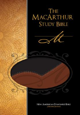 Image for The MacArthur Study Bible, New American Standard Version (Black/Terracotta Leathersoft)