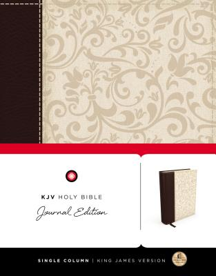 "Image for ""KJV, Holy Bible, Journal Edition, Imitation Leather, BrownCream, Red Letter Edition"""