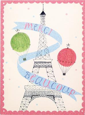 Image for Merci Beaucoup Glitz Thank You Notes
