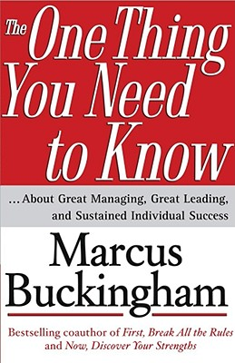 The one thing you need to know, Buckingham, Marcus