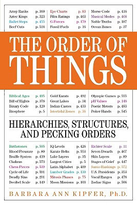 The Order of Things: Hierarchies, Structures, and Pecking Orders, Barbara Ann Kipfer