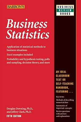 Image for Business Statistics (Barron's Business Review) (Barron's Business Review Series)