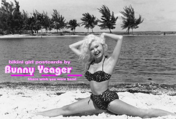 BIKINI GIRL POSTCARDS BY BUNNY YEAGER, BUNNY YEAGER
