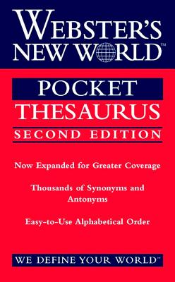 Image for Webster's New World Pocket Thesaurus, Second Edition