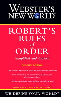 Image for Webster's New World Robert's Rules of Order Simplified and Applied