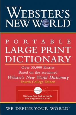Image for Webster's New World Portable Large Print Dictionary, Second Edition