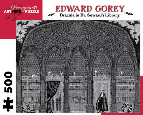 Image for Edward Gorey - Dracula in Dr. Seward's Library: 500 Piece Puzzle (Pomegranate Artpiece Puzzle)