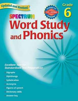 Image for Spectrum Word Study and Phonics Grade 6