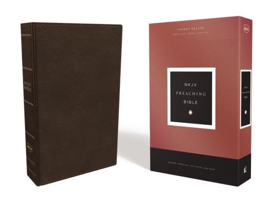 Image for NKJV, Preaching Bible, Premium Calfskin Leather, Brown, Comfort Print