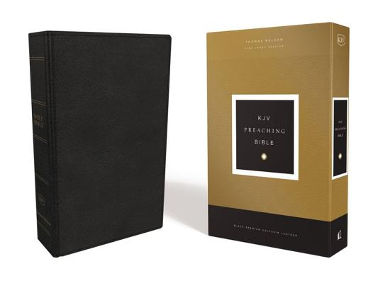 Image for KJV, Preaching Bible, Premium Calfskin Leather, Black, Comfort Print