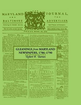 Image for Gleanings from Maryland Newspapers 1786-90