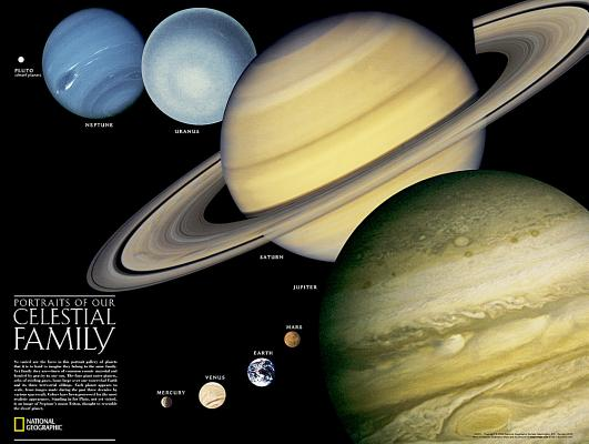 Image for National Geographic: The Solar System: 2 sided Wall Map - Laminated (24.25 x 18.25 inches) (National Geographic Reference Map)