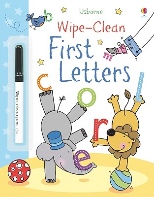 Wipe-Clean First Letters [With Marker]