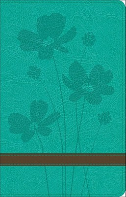 Image for GW Thinline Bible Turquoise/Brown, Flower Design Duravella