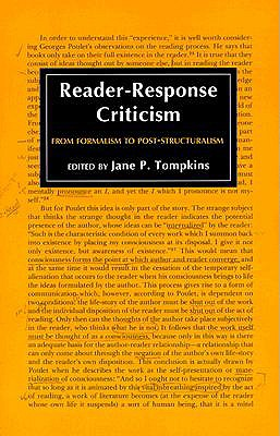 Image for Reader-Response Criticism: From Formalism to Post-Structuralism