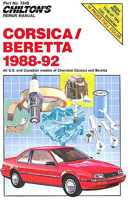 Image for Chevy Corsica and Beretta, 1988-92 (Chilton's Repair Manuals)