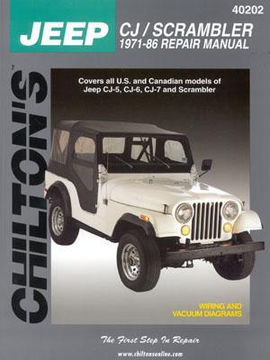 Image for CHILTON'S JEEP CJ/Scrambler 1971-86 Repair Manual