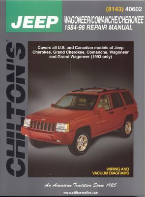 Image for Jeep Wagoneer/Comanche/Cherokee    1984-98 (Chilton's Total Car Care Repair Manuals)