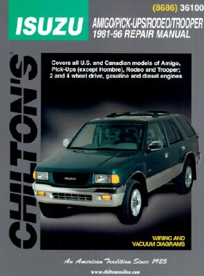 Image for Isuzu Trooper (Holden Jackaroo) & Holden Rodeo Petrol/Diesel 1981-1996 (36100) Chilton Repair Manual