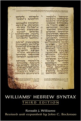 Image for Williams' Hebrew Syntax