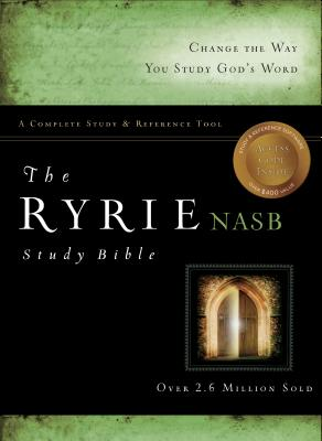 Image for The Ryrie NAS Study Bible Genuine Leather Black Red Letter Indexed (Ryrie Study Bibles 2008)