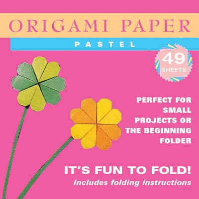 "Origami Paper - Pastel Colors - 6 3/4"" - 48 Sheets: Tuttle Origami Paper: High-Quality Origami Sheets Printed with 6 Different Colors: Instructions for 6 Projects Included"