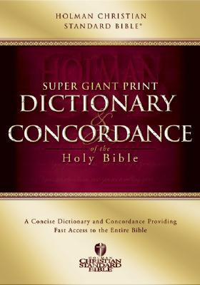 Image for HCSB Super Giant Print Dictionary and Concordance