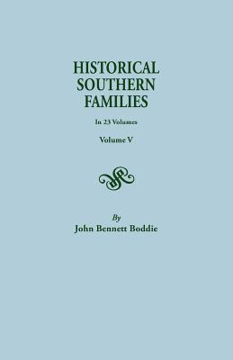 Image for Historical Southern Families, Volume V