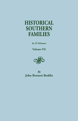 Image for Historical Southern Families, Volume VII
