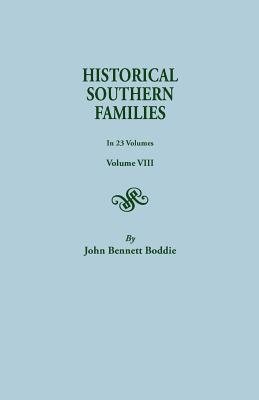 Image for Historical Southern Families, Volume VIII