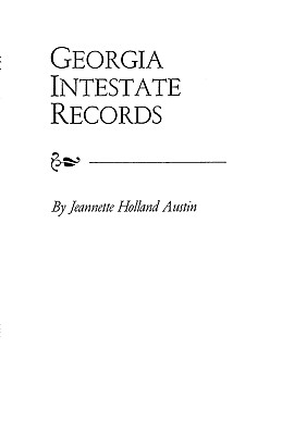Image for Georgia Intestate Records