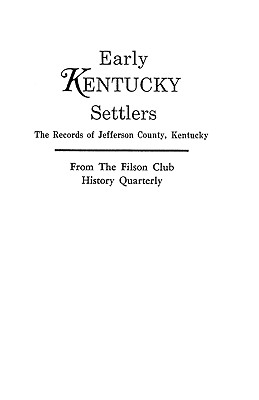 Image for Early Kentucky Settlers