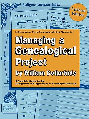 Image for Managing a Genealogical Project