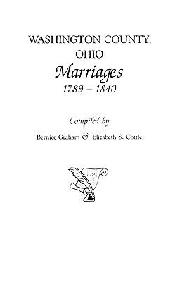 Image for Washington County, Ohio Marriages, 1789-1840