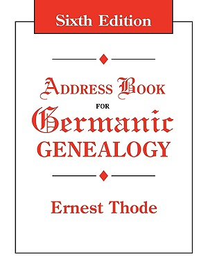 Image for Address Book for Germanic Genealogy
