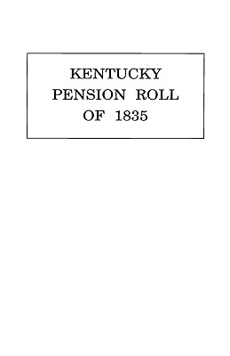 Image for Kentucky Pension Roll for 1835