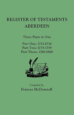 Image for The People of Scottish Burghs: Register of Testaments Aberdeen, 1715-1800