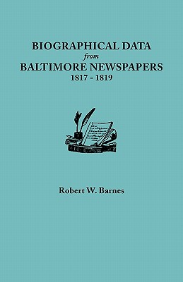 Image for Biographical Data from Baltimore Newspapers, 1817-1819